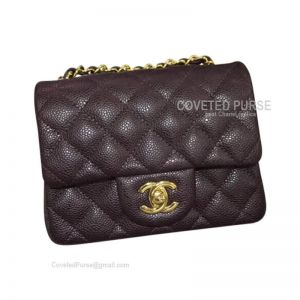 Chanel Mini Flap Bag Coffee Caviar With Gold HW