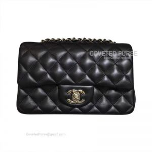 Chanel Small Flap Bag Black Lambskin With Silver HW