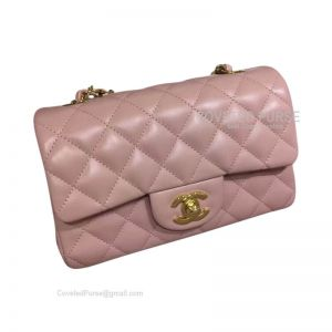 Chanel Small Flap Bag Light Pink Lambskin With Gold HW