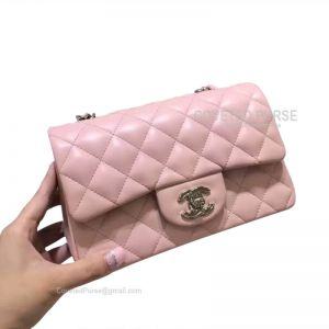 Chanel Small Flap Bag Light Pink Lambskin With Silver HW