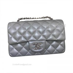 Chanel Small Flap Bag Metallic Lambskin With Silver HW