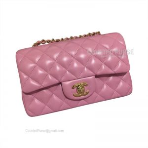 Chanel Small Flap Bag Sakura Pink Lambskin With Gold HW