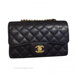 Chanel Small Flap Bag Black Caviar With Gold HW