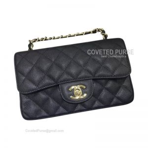 Chanel Small Flap Bag Caviar Black With Gold HW