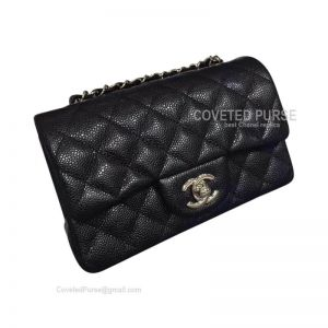 Chanel Small Flap Bag Black Caviar With Silver HW
