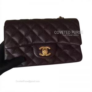 Chanel Small Flap Bag Coffee Caviar With Gold HW
