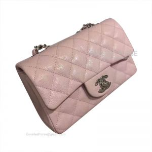 Chanel Small Flap Bag Light Pink Caviar With Silver HW