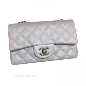 Chanel Small Flap Bag Metallic Caviar With Silver HW