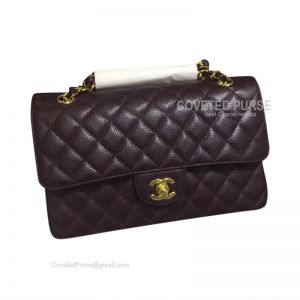 Chanel Medium Flap Bag Coffee Caviar With Gold HW