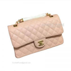 Chanel Medium Flap Bag Light Pink Caviar With Gold HW