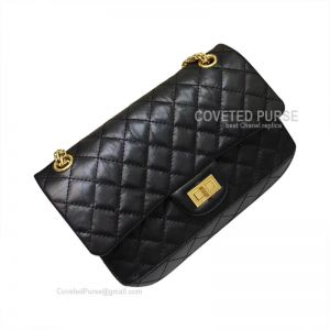 Chanel Medium Reissue Black Crumpled Calfskin With Gold HW
