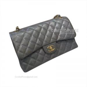 Chanel Jumbo Flap Bag Patent In Pearlite Silver Ash With Gold HW