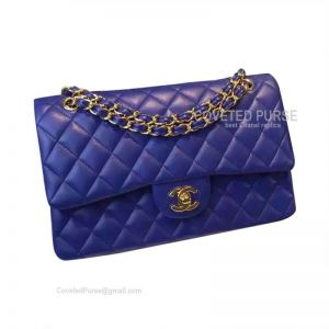 Chanel Jumbo Flap Bag Electric Blue Lambskin With Gold HW