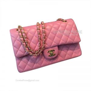 Chanel Jumbo Flap Bag Pink Lambskin With Gold HW