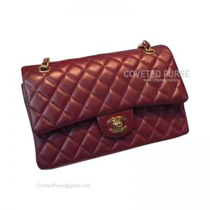 Chanel Jumbo Flap Bag Wine Lambskin With Gold HW