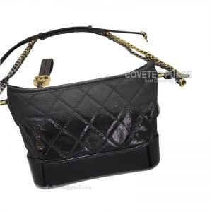 Chanel Gabrielle Hobo Bag Goatskin Black