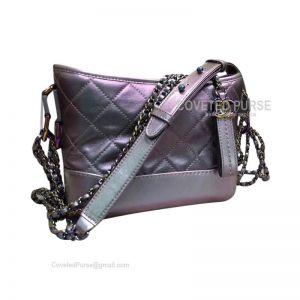 Chanel Gabrielle Hobo Bag Goatskin Iridescent Violet