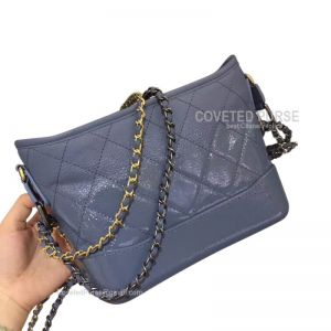 Chanel Gabrielle Hobo Bag Goatskin Haze Blue