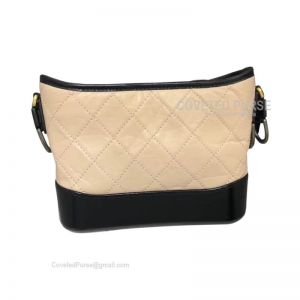 Chanel Gabrielle Hobo Bag Crumpled Calfskin Apricot