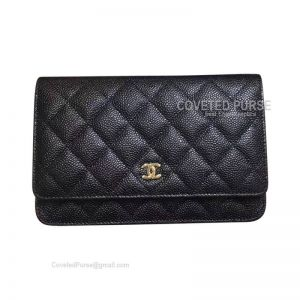 Chanel Small Flap WOC Caviar With Gold HW Black