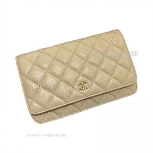Chanel Flap WOC Caviar With Gold HW Apricot