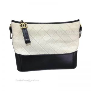 Chanel Gabrielle Large Hobo Bag Crumpled Calfskin White
